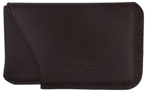Buxton Genuine Leather Business Card Case Small Brown - wallets for men's at mens wallet