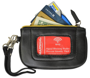 ID Case Card Holder Coin Purse Wallet RFID Blocking Change Pouch