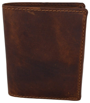 Cazoro Clothing, Shoes & Accessories Cazoro Mens Hunter Leather RFID Bifold Trifold Card ID Wallet W/ Coin Pocket