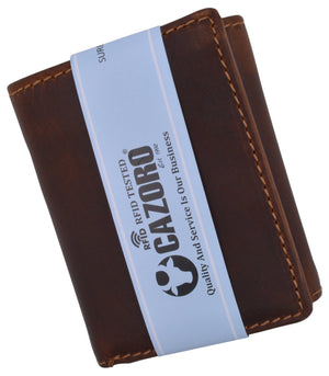 Cazoro Clothing, Shoes & Accessories Cazoro Mens RFID Blocking Hunter Leather Credit Card ID Trifold Wallet