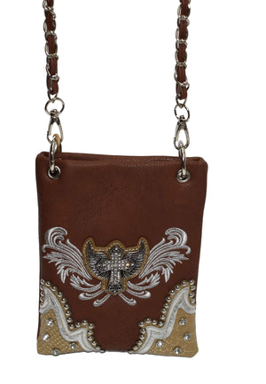 Marshal Clothing, Shoes & Accessories Beautiful Eagle Cross Mini Women Cross Body Bag