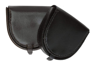 Marshal Clothing, Shoes & Accessories Black 100% Leather Horse Shoe Style Change Purse 6223 (C)
