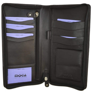 marshal Clothing, Shoes & Accessories Black All Around Zip Passport Holder : Moga