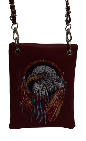 Marshal Clothing, Shoes & Accessories Black American Bald Eagle And  Western Indian Cowgirl Messenger Mini Women Cross body Bags