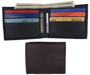 Bifold Lambskin Leather Outside ID Window Mens Wallet 1358 - wallets for men's at mens wallet