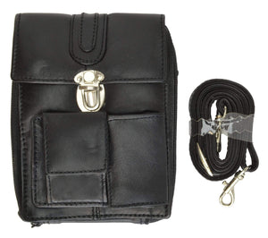 Classic Design Genuine Leather Organizer Bag with Vintage Buckle Closure 121 (C)