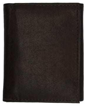 Marshal Clothing, Shoes & Accessories Black Cowhide Leather Extra Capacity Trifold Wallet with Detachable ID Flap 1455 CF (C)