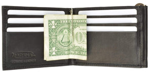 marshal Clothing, Shoes & Accessories Black Double Money Clip with Credit Card Holder