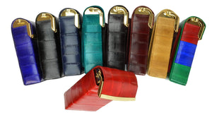 Eel Skin Genuine Leather Sliding Cigarette Case Wallet E 131 - wallets for men's at mens wallet