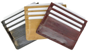 Eel Skin Soft Leather Credit Card Holder  E 170 - wallets for men's at mens wallet