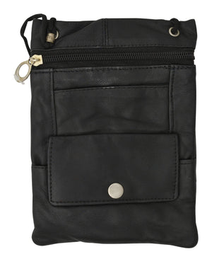 Marshal Clothing, Shoes & Accessories Black Elegance Look Leather Cross Body Bag Leather Shoulder Purse w Zipper Pocket Different Colors 1410 (C)
