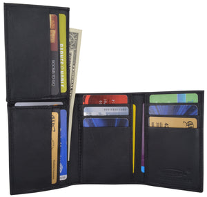 Flip-Up Mens Wallet W/Credit Card Holder Trifold 239 - wallets for men's at mens wallet