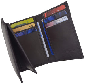Marshal Clothing, Shoes & Accessories Black Flip-Up Mens Wallet W/Credit Card Holder Trifold 239