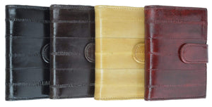 Genuine Eel Skin Credit Card Case with Snap Closure E 570 - menswallet