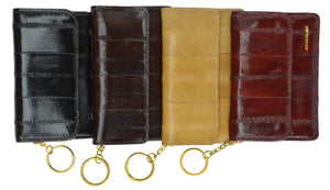 Genuine Eel Skin Leather Womens Coin Change Purse E 855 - wallets for men's at mens wallet