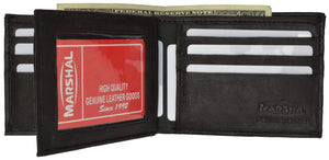 Genuine Leather Bifold Center Flap Lambskin Wallet with ID and Credit Card 52 - wallets for men's at mens wallet