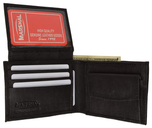 Genuine Leather Bifold Mens Wallet W/Flip-up I.D. Window 786 - wallets for men's at mens wallet