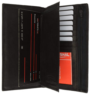 Genuine Leather Checkbook Cover Wallet Organizer with Credit Card Holder 253 CF (C) - menswallet