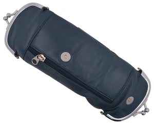 Marshal Clothing, Shoes & Accessories Black Genuine Leather Cigarette and Lighter Case with Twist Clasp 1838AL (C)