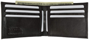 Genuine Leather Classic Bifold Mens Wallet 1158 - wallets for men's at mens wallet