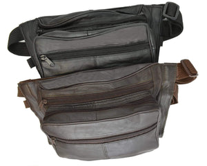 Genuine Leather Concealed Carry Fanny Pack - Gun Conceal Purse for Men & Women 532 (C) - wallets for men's at mens wallet