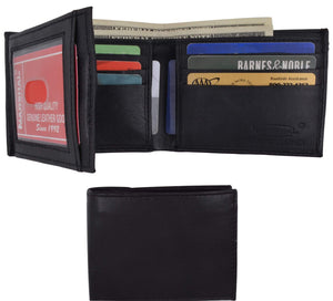 Genuine Leather Lambskin Wallet Side Flap and Credit Card ID Holder Wallet 92 - wallets for men's at mens wallet