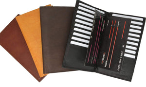 Genuine Leather Multiple Credit Card and Checkbook Style Holder 529 CF (C) - wallets for men's at mens wallet