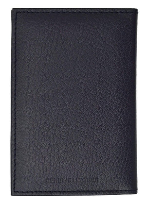 Marshal Clothing, Shoes & Accessories Black Genuine Leather Passport Cover Holder Wallet Case Travel Many Colors 601 CF BLIND (C)