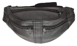 Genuine Leather Slim Waist Pouch, Fanny Pack, Unisex Design 001 (C) - wallets for men's at mens wallet