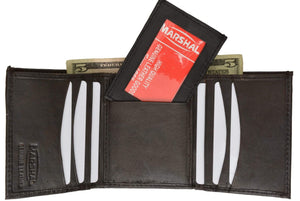 Genuine Leather Trifold W/Removable ID Holder Mens Wallet 2955 - wallets for men's at mens wallet