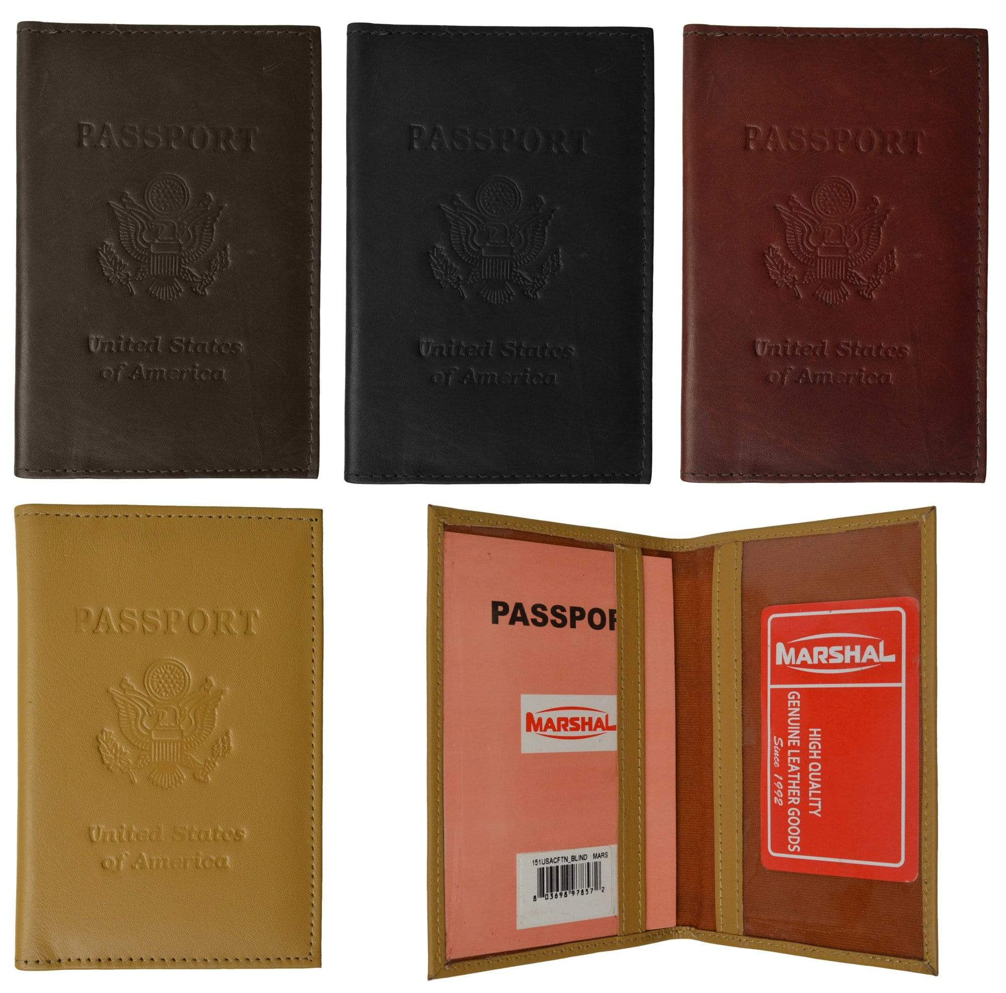 bc5fd9b7f Genuine Leather USA Passport Cover