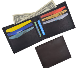 Genuine Premium Lamb Leather Credit Card Slim Design Bifold Wallet 58 - wallets for men's at mens wallet