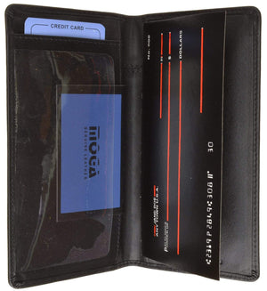 marshal Clothing, Shoes & Accessories Black High End Checkbook Cover