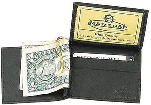 marshal Clothing, Shoes & Accessories Black I.D. Holder Money Clip