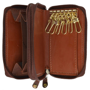 Cow Leather Zippered Key Chain Holder by Marshal Wallet - wallets for men's at mens wallet