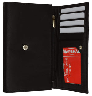 Marshal Clothing, Shoes & Accessories Black Ladies Genuine Leather Credit Card ID Currency Holder Wallet 2547 CF (C)