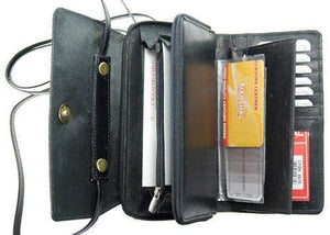 Marshal Clothing, Shoes & Accessories Black Ladies Genuine Leather Wallet Organizer Cellphone Holder 5675 CF (C)