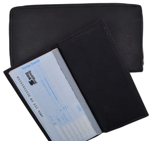 Marshal Clothing, Shoes & Accessories Black Ladies Genuine Leather Zip-Around Long Credit Card Wallet
