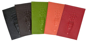 Ladies New Fashion Croco Embossed Horizontal Credit Card ID Holder 118-1268 (C) - wallets for men's at mens wallet