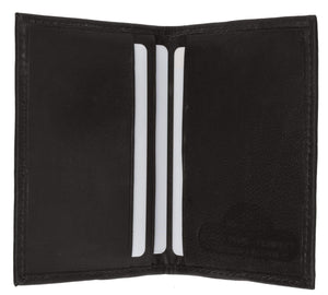 Marshal Clothing, Shoes & Accessories Black Lambskin Leather Mens Mini Credit Card Holder 67 (C)