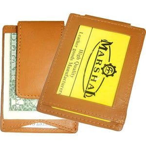 marshal Clothing, Shoes & Accessories Black leather magnetic money clip