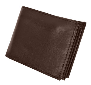 Marshal Clothing, Shoes & Accessories Black Marshal RFID Leather Mens Wallet Bifold Fixed Flip 3 Window ID RFID P 1852 (C)