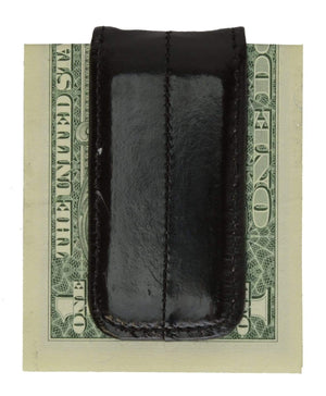 Marshal Clothing, Shoes & Accessories Black Men's Eel Skin Large Magnetic Money Clip E 334