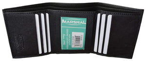 Marshal Clothing, Shoes & Accessories Black Men's Genuine Soft Leather Trifold Wallet P 1155 (C)