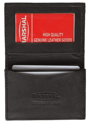 Marshal Clothing, Shoes & Accessories Black Men's Premium Leather Business Card Holder P 70 (C)