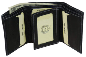 Marshal Clothing, Shoes & Accessories Black Men's premium Leather Quality Wallet 92 1107