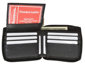 Marshal Clothing, Shoes & Accessories Black Men's premium Leather Quality Wallet 92 1256