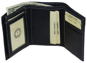 Marshal Clothing, Shoes & Accessories Black Men's premium Leather Quality Wallet 92 1455