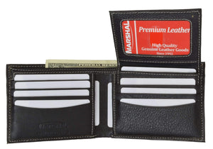 Marshal Clothing, Shoes & Accessories Black Men's premium Leather Quality Wallet 92 2533