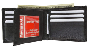 Marshal Clothing, Shoes & Accessories Black Men's Premium Leather Quality Wallet 9200 52